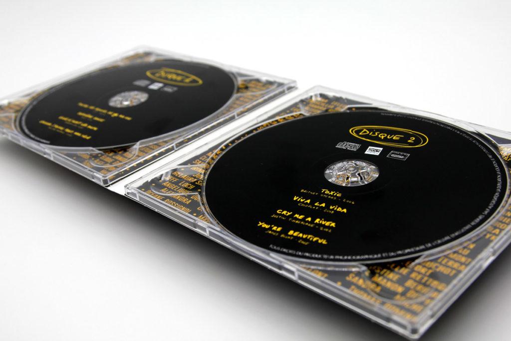 Pressage double Album Impression d'un Digipack CD 2 volets 2 plateaux